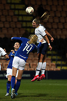 Esme Morgan of Everton women and Rianna Dean of Tottenham Hotspur women during Tottenham Hotspur Women vs Everton Women, Barclays FA Women's Super League Football at the Hive Stadium on 12th February 2020