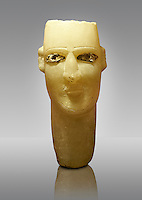 Small Alabaster Statue head grave stone from the Yemen, 1st cent. B.C . Istanbul Archaeological Museum, Inv. 7670.