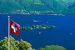 CHE, Schweiz, Tessin, Blick von Ronco sopra Ascona auf die Inseln Isole di Brissago im Lago Maggiore | CHE, Switzerland, Ticino, view from Ronco sopra Ascona at Isole di Brissago at Lago Maggiore