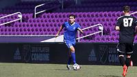 Orlando, Florida - Wednesday January 17, 2018: Arthur Bosua. Match Day 3 of the 2018 adidas MLS Player Combine was held Orlando City Stadium.