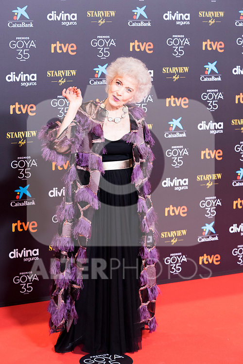Marisa Paredes attends the red carpet previous to Goya Awards 2021 Gala in Malaga . March 06, 2021. (Alterphotos/Francis González)