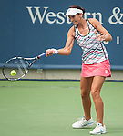 Chanelle Scheepers (RSA) prevails at the Western and Southern Financial Group event in Cincinnati, Ohio on August 14, 2012.