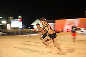 A Kamayura warrior competes in the second round of the 100 metres at the International Indigenous Games in Brazil. 28th October 2015