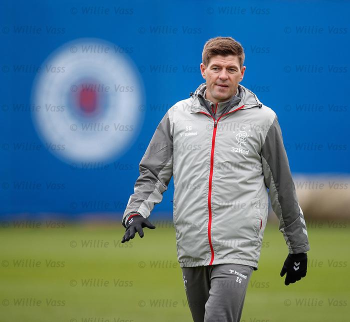 16.01.2020 Rangers training: Steven Gerrard