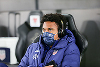 SWANSEA, WALES - NOVEMBER 12: Weston McKennie #8 of the United States men's national team arrives at Liberty stadium before a game between Wales and USMNT at Liberty Stadium on November 12, 2020 in Swansea, Wales.