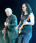 Alex Lifeson and Geddy Lee of the Canadian rock band RUSH perform at the Giant Center in Hershey, Pa. April 8, 2011..Copyright EML/Rockinexposures.com.