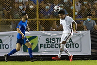 SAN SALVADOR, EL SALVADOR - SEPTEMBER 2: Weston McKennie #8 of the United States wins the header during a game between El Salvador and USMNT at Estadio Cuscatlán on September 2, 2021 in San Salvador, El Salvador.