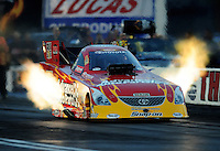 Oct. 31, 2008; Las Vegas, NV, USA: NHRA funny car driver Cruz Pedregon during qualifying for the Las Vegas Nationals at The Strip in Las Vegas. Mandatory Credit: Mark J. Rebilas-
