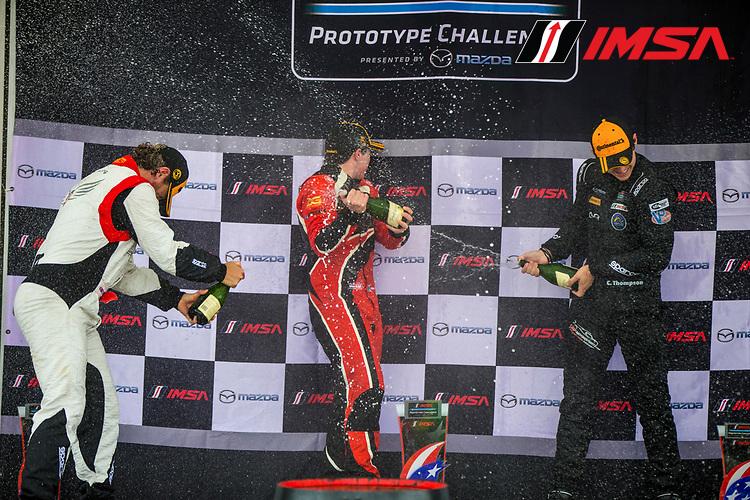 IMSA Prototype Challenge Presented by Mazda<br /> Sahlen's Six Hours of the Glen<br /> Watkins Glen International, Watkins Glen, NY USA<br /> Saturday 1 July 2017<br /> IMSA Mazda Prototype Challenge Race 2, P3 Podium<br /> World Copyright: Jake Galstad/LAT Images