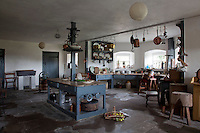 The eighteenth century kitchen with its original table