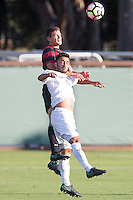 Stanford, Calif. August 26, 2016: Stanford Men's Soccer against Penn State at Cagen Stadium.