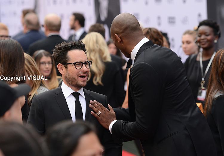 J.J. Abrams + Kobe Bryant @ the 44th AFI Life Achievement award tribute honoring John Williams held @ the Dolby theatre. June 9, 2016