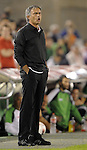 SANTANDER - SEPTEMBER 21:  Head coach Jose Mourinho of Real Madrid gives instructions to his players during the La Liga soccer match between Real Racing Club and Real Madrid at El Sardinero Stadium on September 21, 2011 in Santander, Spain. Photo by Victor Fraile / The Power of Sport Images