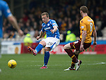 Motherwell v St Johnstone….07.05.16  Fir Park, Motherwell<br />Scott Brown and Stephen Pearson<br />Picture by Graeme Hart.<br />Copyright Perthshire Picture Agency<br />Tel: 01738 623350  Mobile: 07990 594431