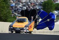 Jul, 21, 2012; Morrison, CO, USA: NHRA funny car driver Jeff Arend during qualifying for the Mile High Nationals at Bandimere Speedway. Mandatory Credit: Mark J. Rebilas-US PRESSWIRE