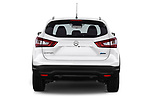 Straight rear view of 2014 Nissan Qashqai Tekna 5 Door SUV stock images