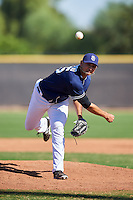San Diego Padres pitcher Jose Galindo (65) during an Instructional League game against the Texas Rangers on October 3, 2016 at the Peoria Sports Complex in Peoria, Arizona.  (Mike Janes/Four Seam Images)