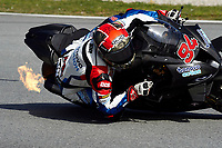 1st April 2021; Circuit de Barcelona Catalunya, Barcelona, Spain; FIM Superbike World Championship Testing; Jonas Folger of the Bonovo Mgm Team in action with the Worldsbk BMW M 1000 RR