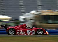 The Risi Competizione Ferrari of David Brabham speeds through the infield..39th Rolex 24 at Daytona, 3/4 February,2001 Daytona International Speedway  Daytona Beach,Florida,USA.©F.Peirce Williams 2001 ..