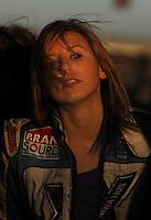 Jan 21, 2007; Las Vegas, NV, USA; NHRA Super Comp driver Courtney Force during preseason testing at The Strip at Las Vegas Motor Speedway in Las Vegas, NV. Mandatory Credit: Mark J. Rebilas