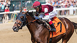 09042021:#7 Pipeline ridden by John Velasquez wins the 3rd race of the day on The JOCKEY GOLD CUP day at Saratoga<br /> Robert Simmons/Eclipse Sportswire