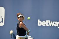 MIAMI GARDENS, FLORIDA - MARCH 26: Naomi Osaka of Japan defeats Ajla Tomljanovi? of Australia on Day 5 of the 2021 Miami Open on March 26, 2021 in Miami Gardens, Florida<br /> People:  Naomi Osaka <br /> CAP/MPI122<br /> ©MPI122/Capital Pictures