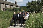 The annual Padley Martyrs Roman Catholic Pilgrimage. Pilgrims walk from Grindleford train station to Padley Chapel. Grindleford, Derbyshire  UK 2008.