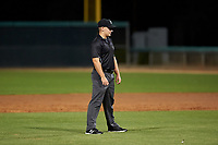 Umpire Luke Morris during an Arizona League game between the AZL White Sox and AZL Dodgers Lasorda at Camelback Ranch on June 18, 2019 in Glendale, Arizona. AZL Dodgers Lasorda defeated AZL White Sox 7-3. (Zachary Lucy/Four Seam Images)