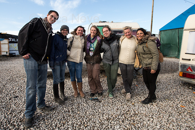"""First Aid Camp - Second Team.<br /> <br /> Calais Jungle Camp.<br /> <br /> Under the Sky of Calais & Dunkirk. Two Camps, Two Sides of the Same Coin: Not 'migrants', Not 'refugees', just Humans.<br /> <br /> France, 24-30/03/2016. Documenting (and following) Zekra and her experience in the two French camps at the gate of the United Kingdom: Calais' """"Jungle"""" and Dunkirk's """"Grande-Synthe"""". Zekra lives in London but she is originally from Basra in Iraq. Zekra and her family had to flee Kuwait - where they moved for working reason - due to the """"Gulf War"""", and to the Western Countries' will to """"export Democracy in Iraq"""". Zekra is a self-motivated volunteer and founder of """"Happy Ravers"""", a group of people (not a NGO or a charity) linked to each other because of their love for rave parties but also men and women who meet up every week to help homeless people and other people in need in Central London. (Here there are some of the stories I covered about Zekra and """"Happy Ravers"""": http://bit.ly/1XVj1Cg & http://bit.ly/24kcGQz & http://bit.ly/1TY0dPO). Zekra worked as an English teacher in the adult school at Dunkirk's """"Grande-Synthe"""" camp and as a cultural mediator and Arabic translator for two medic teams in Calais' """"Jungle"""". Please read her story at the beginning of this reportage."""