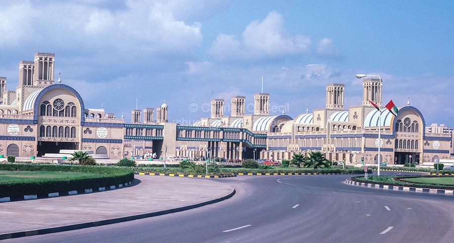 Sharjah, United Arab Emirates, UAE.  Main Market, Souk al-Markazi, or Blue Souk. Photographed February1985.