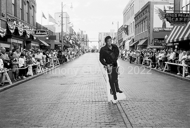 Memphis, Tennessee<br /> USA<br /> August 12, 2002<br /> <br /> Moments before a parade down Beale street to honor the 25th anniversary of Elvis Presley's death.