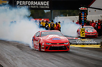 Sep 1, 2017; Clermont, IN, USA; NHRA pro stock driver Drew Skillman during qualifying for the US Nationals at Lucas Oil Raceway. Mandatory Credit: Mark J. Rebilas-USA TODAY Sports