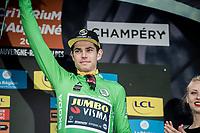 Wout van Aert (BEL/Jumbo - Visma) wins the 2019 Dauphiné green jersey<br /> <br /> Stage 8: Cluses (FRA) to Champéry (SUI)(113km)<br /> 71st Critérium du Dauphiné 2019 (2.UWT)<br /> <br /> ©kramon