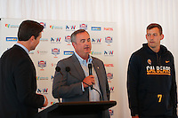 SYDNEY, AUSTRALIA - August 23, 2016:  Cal Bears Football team Australia trip.  Sonny Dykes addresses the media during the Sydney Cup press conference.