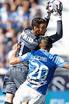 CD Leganes' Luciano Neves (r) and Sevilla FC's Sergio Rico during La Liga match. October 15,2016. (ALTERPHOTOS/Acero)