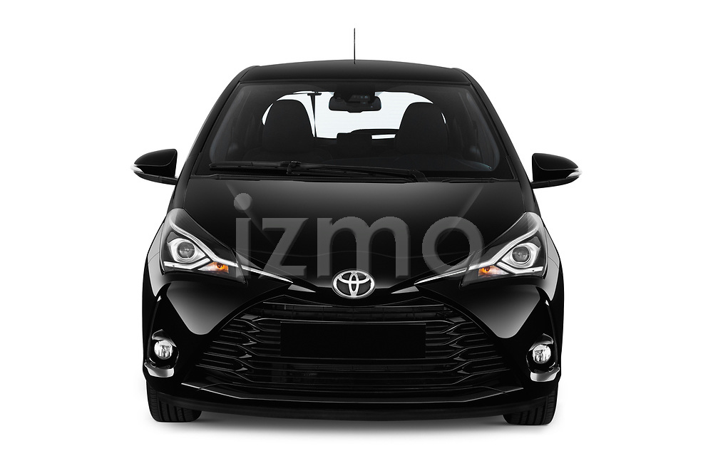 Car photography straight front view of a 2018 Toyota Yaris Lounge 5 Door Hatchback