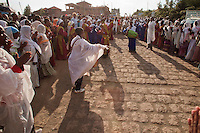 The Lalibela people dance in the Timkat procession in Ethiopia