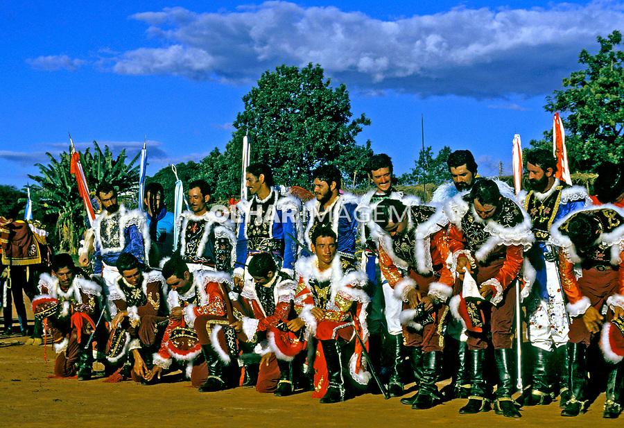 Festa da Cavalhada em Pirenópolis. Goiás. 1982.  Foto de Juca Martins.