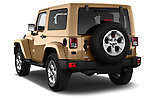 Car pictures of rear three quarter view of 2016 JEEP Wrangler Sahara 5 Door SUV Angular Rear