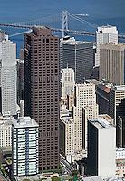 aerial photograph 555 California Street skyscrapers San Francisco