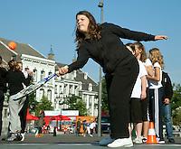 17-9-09, Netherlands,  Maastricht, Tennis, Daviscup Netherlands-France, , Straattennis