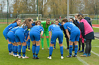 teambuilding of Genk's players  pictured before a female soccer game between SV Zulte - Waregem and KRC Genk on the 8 th matchday of the 2020 - 2021 season of Belgian Scooore Women s SuperLeague , saturday 21 th of November 2020  in Zulte , Belgium . PHOTO SPORTPIX.BE | SPP | DIRK VUYLSTEKE