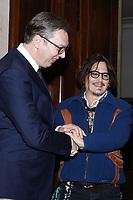 Johnny Depp meets Serbian President