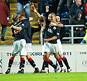 FALKIRK'S FARID EL ALLAGUI CELEBRATES AFTER HE SCORES FALKIRK'S SECOND