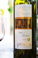 Petrea 2003 white. Mas Comtal, Avinyonet, Penedes, Catalonia, Spain