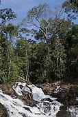 Mato Grosso State, Brazil. Mercurio waterfalls (cachoeira).