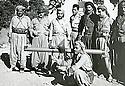 Iraq 1963.In Qara Dagh, first left,Mohamed Saleh, second,Sheikh Mohamed Kasnazani, third, Sheikh Rauf sheikh Aref,seating Mahmud sheikh Sader, third, Sheikh Rauf sheikh Aref,seating Mahmud sheikh Sader