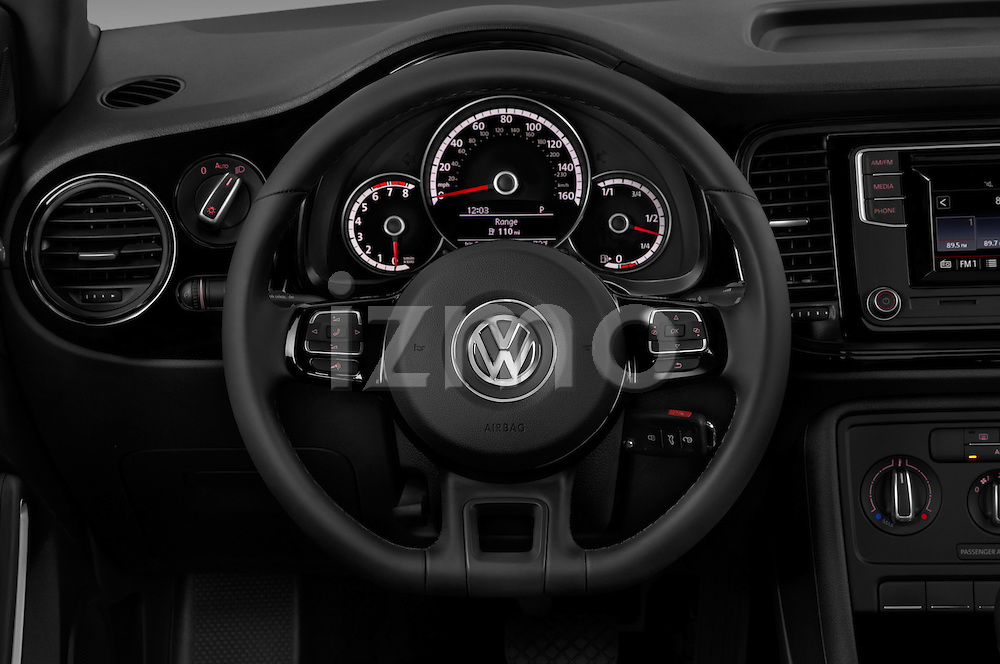 Car pictures of steering wheel view of a 2016 Volkswagen Beetle 1.8T-S-Auto-PZEV 3 Door Hatchback Steering Wheel