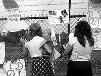 Women from Santa Cruz CA protesting the shipment of Cruise missiles to Europe with the Women's Encampment for a Future with Peace and Justice at the Seneca Army Depot in Seneca Falls New York August 1, 1983
