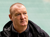 20th February 2021; Easter Road, Edinburgh, Scotland; Scottish Premiership Football, Hibernian versus Hamilton Academical; Brian Rice Hamilton Manager before kick off